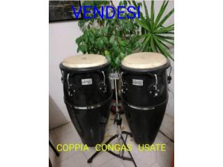 Toca Players Series 4010 Fiberglass Conga Drum Set w/Stand – 10″ & 11