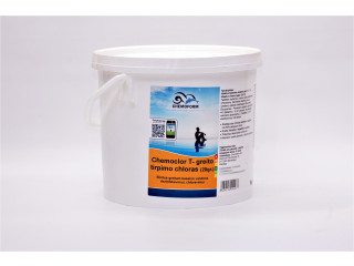 Chemoclor CHLORINE Tabs 20g x 250pcs. quick dissolving (chlorine shock) for swimming pool disinfection, 5 kg