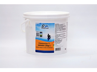 Chemoclor CHLORINE Tabs 20 g x 250 pcs. slow dissolving for swimming pool disinfection, 5 kg