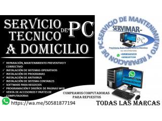 SOPORTE TECNICO A COMPUTADORAS -  MANTENIMIENTO Y REPARACION A DOMICILIO