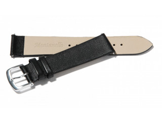 Montanello Horlogeband Kalfs Leer 18mm 20 mm 22 mm zwart