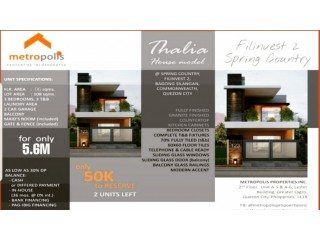Thalia Model  House And Lot in Quezon City